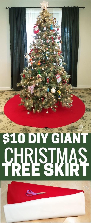 Giant Diy Christmas Tree Skirt A No Sew Tree Skirt Smart Fun Diy