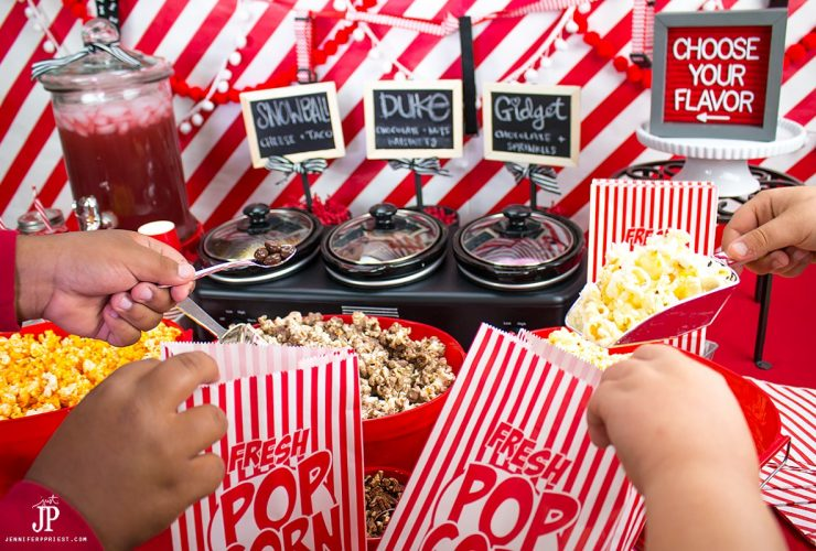 The Secret Life of Pets Movie Night with DIY Popcorn Bar