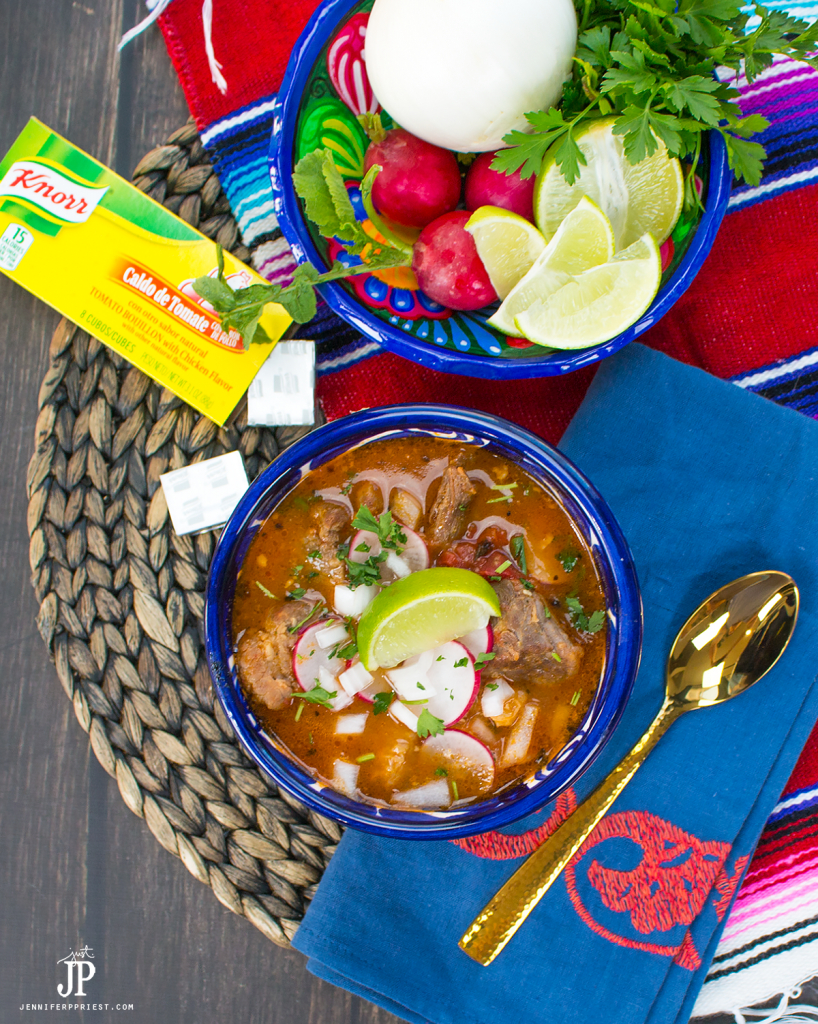 The best way to stay warm on days like this is with a hot bowl of hearty pozole. We keep it simmering on the stove so we can savor it all day long. I keep sliced radishes, chopped onions, crushed herbs, and lime wedges in the fridge to add crunch and a fresh flavor that feels like summer. This recipe comes together fast with pantry staples, like @Knorr Knorr® Tomato Bouillon with Chicken flavor. Get the recipe at http://lbx.la/TPrH and warm up with pozole in less than an hour. PLUS, get a peek inside Northgate Market! #sponsored #KnorrCelebrations #Liveforflavor
