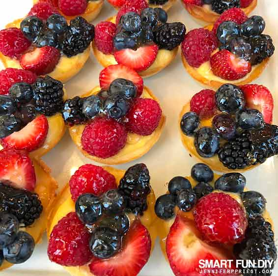 Berry Tarts at Cafecito time with got milk? at Carrera Café at 8251 Melrose Ave, Los Angeles, CA 90046