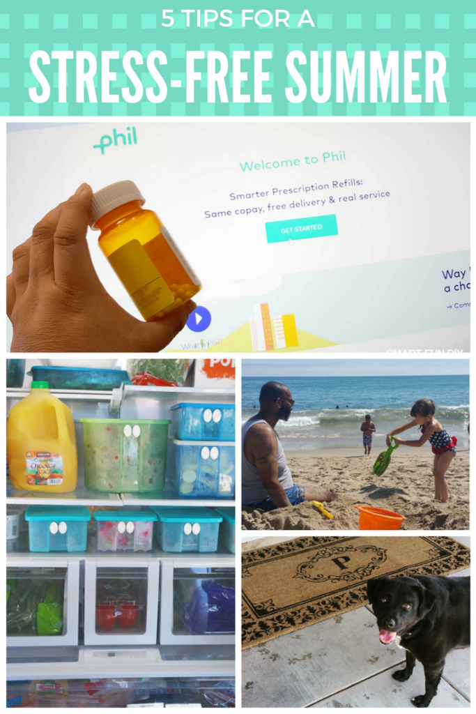 5 TIPS FOR A STRESS-FREE summer ... like with Phil you can have your prescriptions delivered to your door! Goodbye long pharmacy lines! #PhilRx #Ad #Pmedia https://www.smartfundiy.com/5-stress-free-summer-tips/