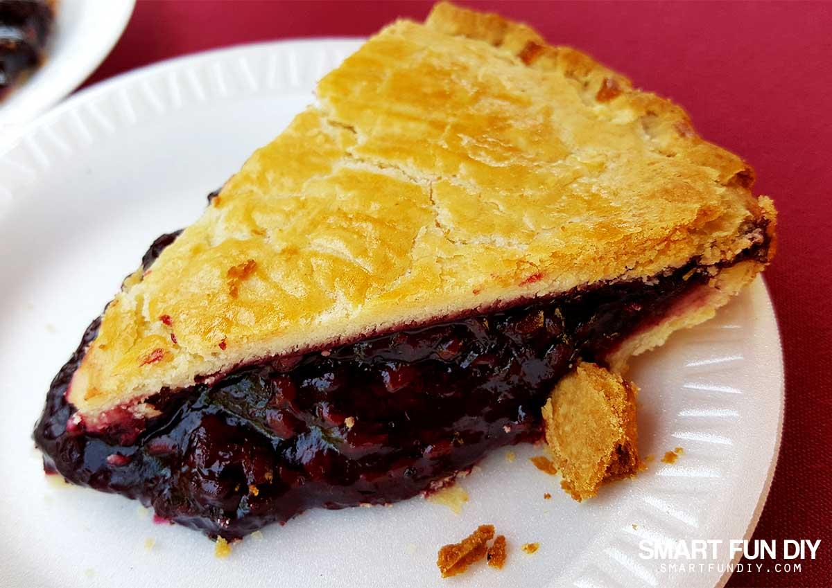 Boysenberry Pie at Knott's Berry Farm