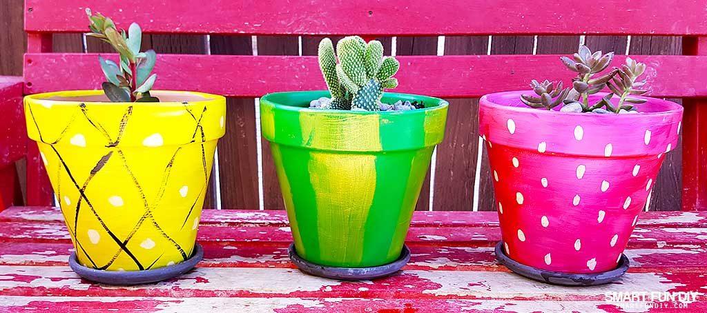 Fruit Painted Diy Terra Cotta Pots