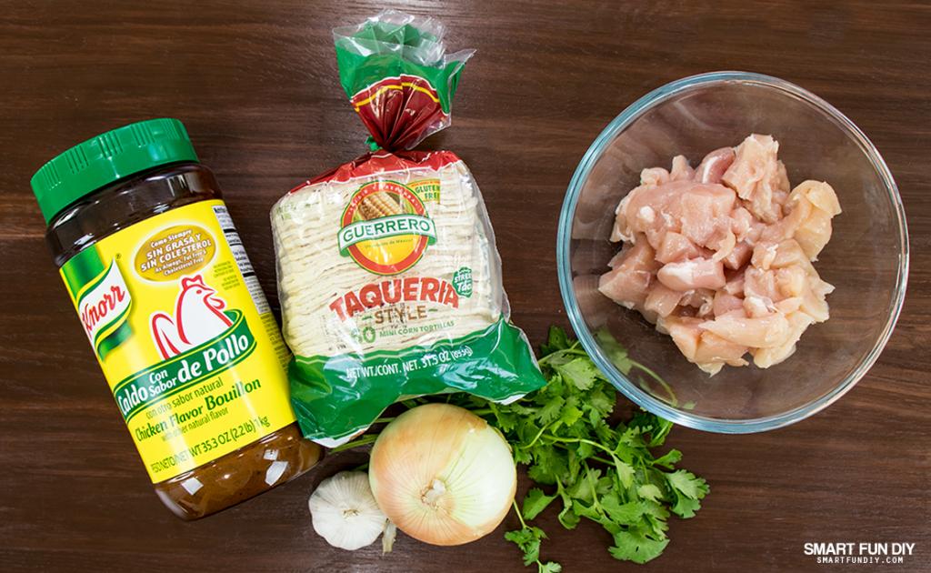 ingredients for chicken street tacos recipe