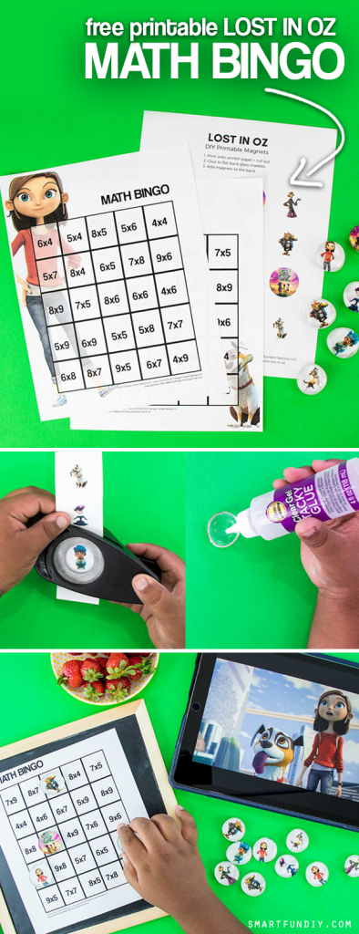 Sponsored: Grab these FREE Math bingo printables for multiplication ... plus a BLANK one you can use for ANY kind of bingo, inspired by the Amazon Kids show Lost in Oz on Amazon Prime. #LostInOz