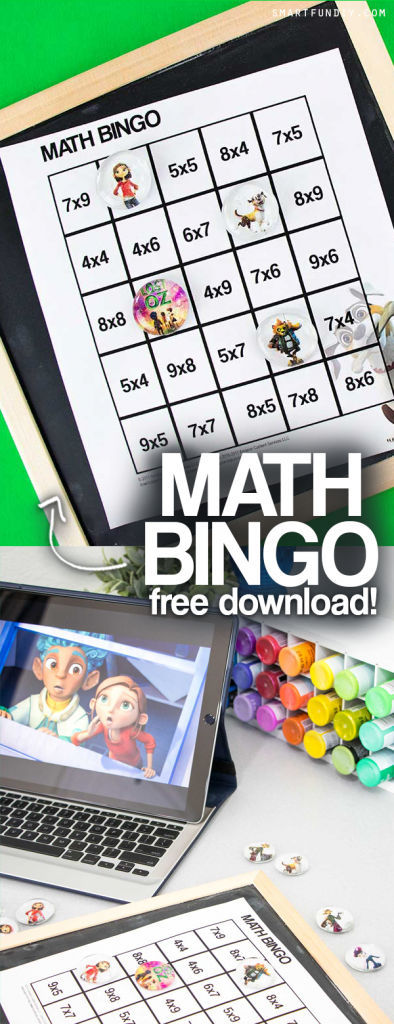 Sponsored: Teachers! Get this FREE printable multiplication BINGO game inspired by the Amazon Kids show Lost in Oz on Amazon Prime. Include a BLANK bingo card you can customize with any math problems AND a DIY magnet kids craft idea. #LostInOz