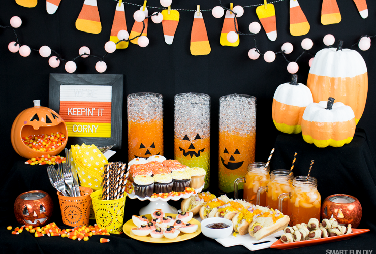Cutest Halloween Candy Corn Party Ideas – Halloween Party Food Ideas for Kids
