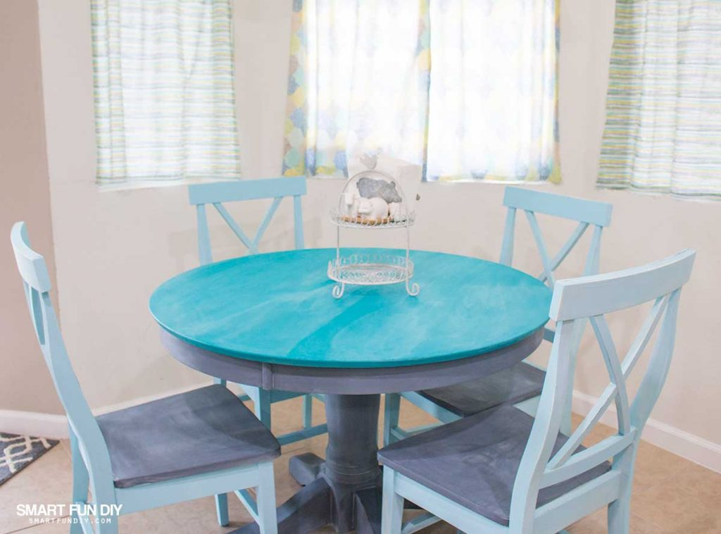 Chalk paint table makeover when we bought our house just over 9 years ago i had a bonafide breakfast nook for the first time ever being first time homeowners we were naturally on a watchthetrailerfo