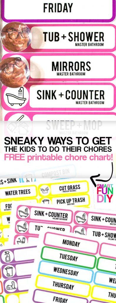 DIY chore chart printable