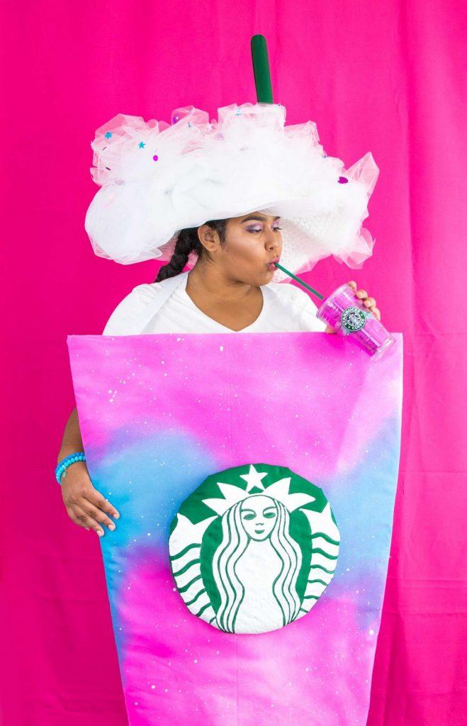 Diy unicorn frappuccino costume how to make a diy unicorn frappuccino costume solutioingenieria Choice Image