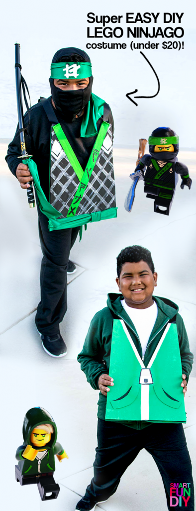 AD: Quick and Easy DIY Halloween NINJAGO Costume - LLOYD Costume! EASY to follow video tutorial! The LEGO NINJAGO Movie is in theaters 9/22! #LEGONINJAGOmovie https://www.smartfundiy.com/diy-lego-ninjago-movie-costume/