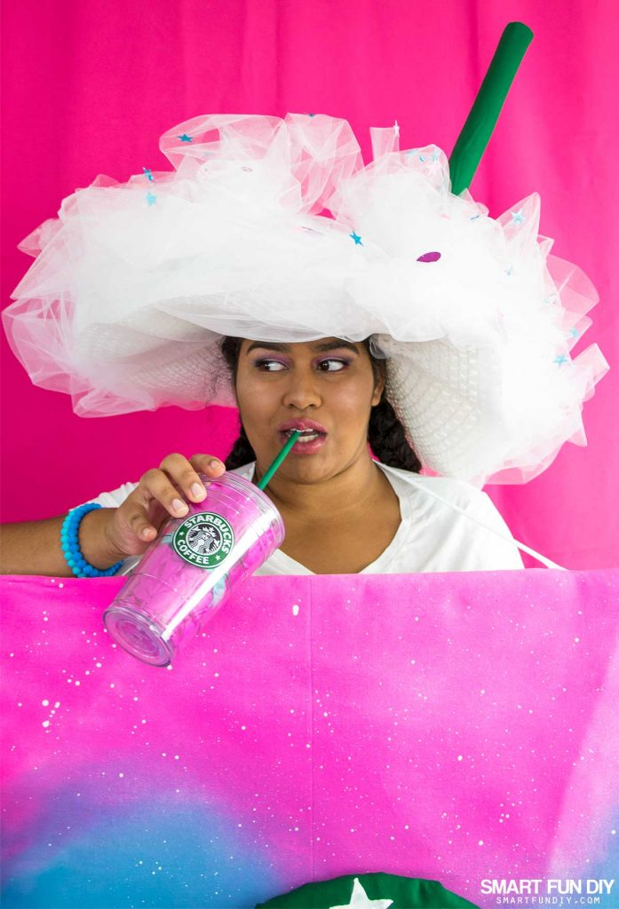 Diy unicorn frappuccino costume the essentials that a diy unicorn frappuccino needs solutioingenieria Image collections