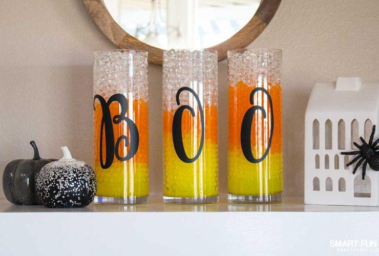 Candy Corn Water Beads – Halloween Vase Filler Idea!