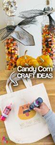 20 Candy Corn Craft Ideas! Awesome Candy Corn Crafts! Easy DIY candy corn crafts #candycorn #candycorncrafts #HalloweenDecor