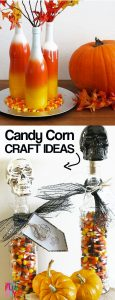 Candy Corn ... love it or hate it, these 20 Candy Corn craft ideas adorable and SHARE-able! Perfect for Halloween decor and Halloween crafts #candycorn #candycorncrafts #HalloweenDecor