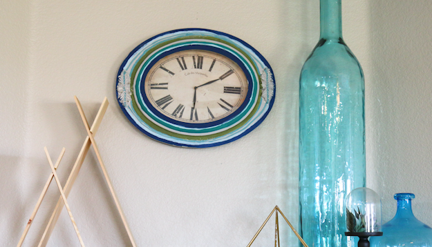 DIY Bohemian Wall Clock – Thrift Store Style