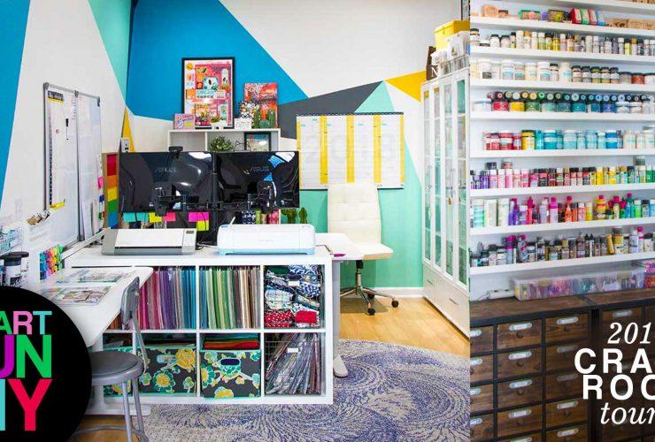 I got rid of my craft supplies! 2018 Craft Room Tour