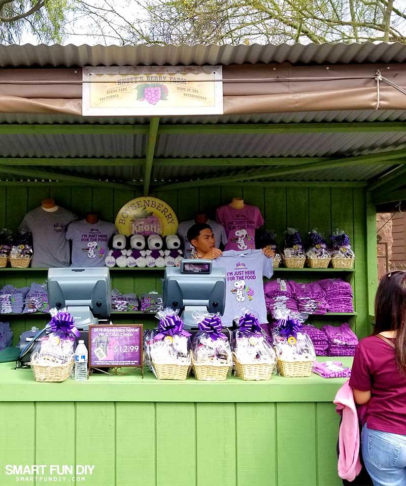 Boysenberry Merch Booth