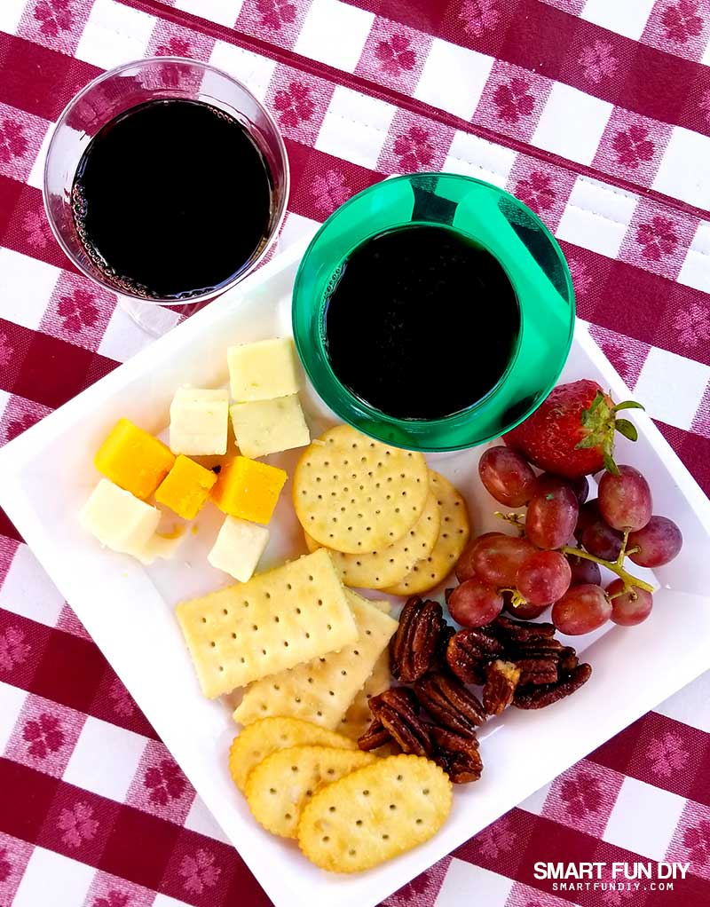 Boysenberry Wine and Wine Tasting Plate at Knott's Berry Farm
