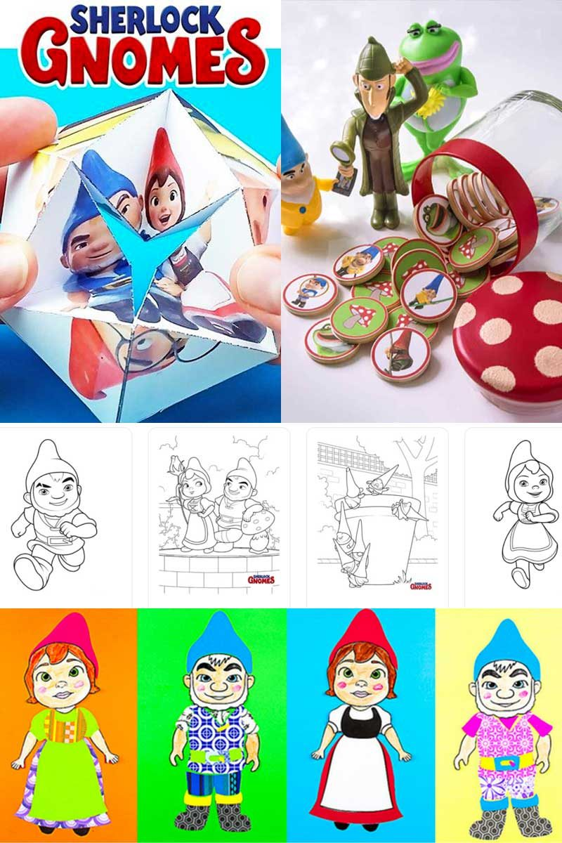 Sherlock Gnomes craft ideas