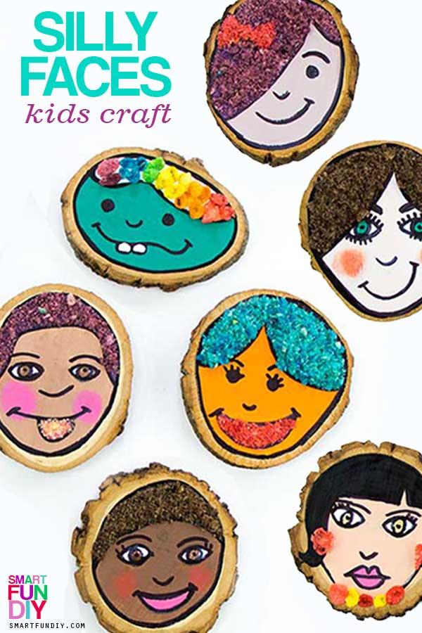 collage of self portrait for preschoolers ideas