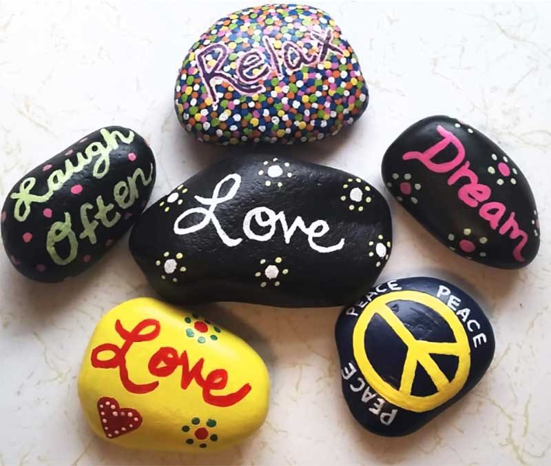 painted rocks for kindness project