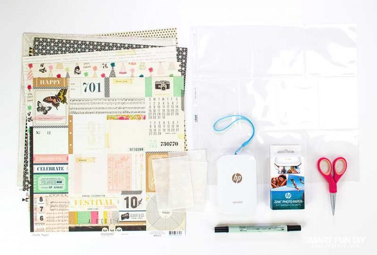 How To  Make A DIY Travel Scrapbook Kit