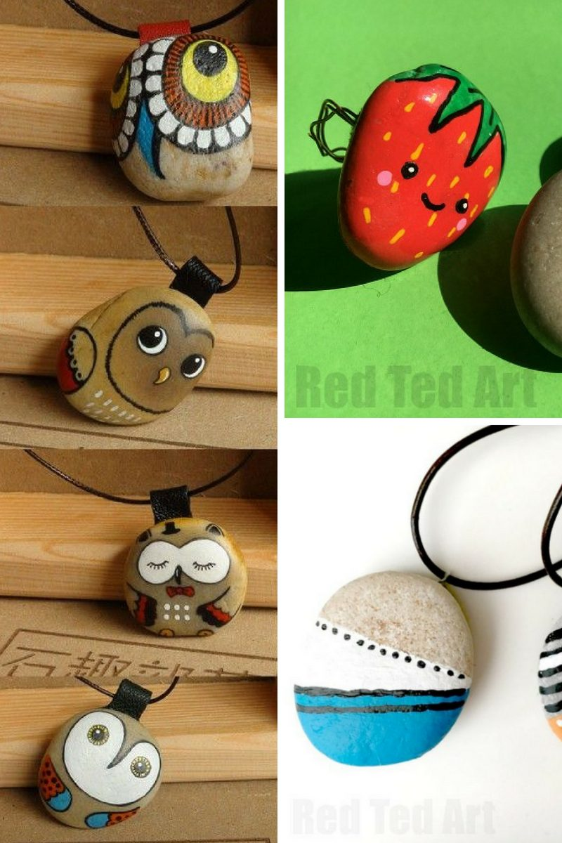 painted rock jewelry ideas collage