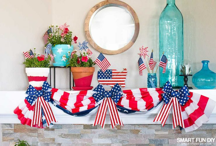 Patriotic Decorations – Mantel Decor for under $10!