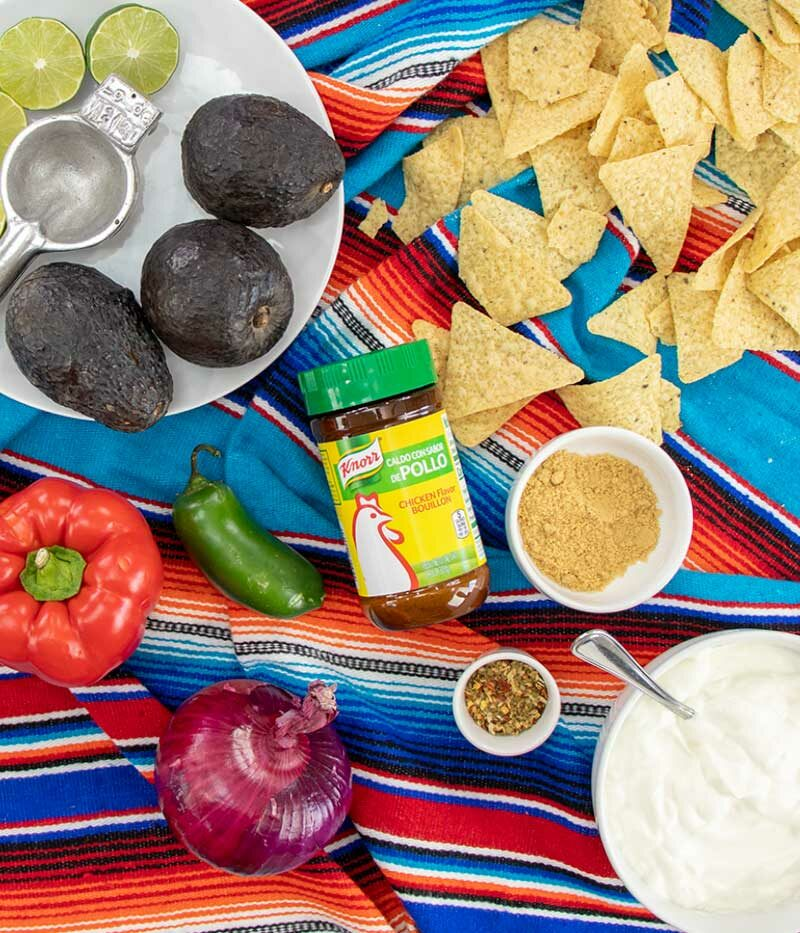 Ingredients for Cilantro Avocado Dip