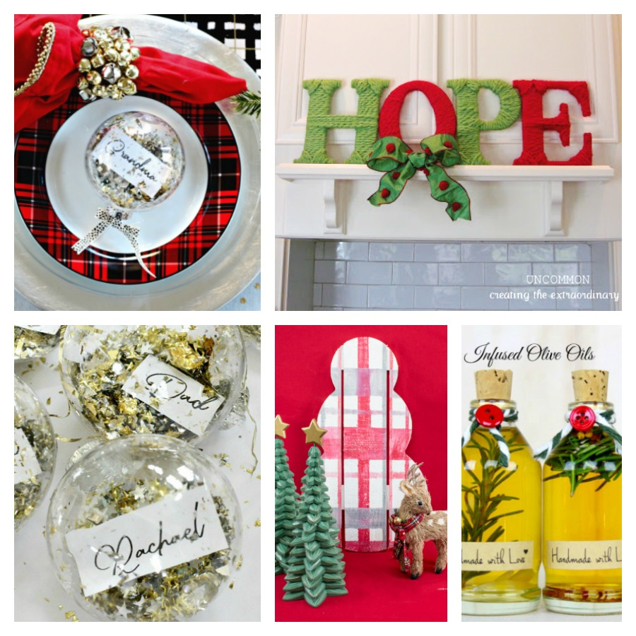 Collage of DIY Christmas decoration ideas