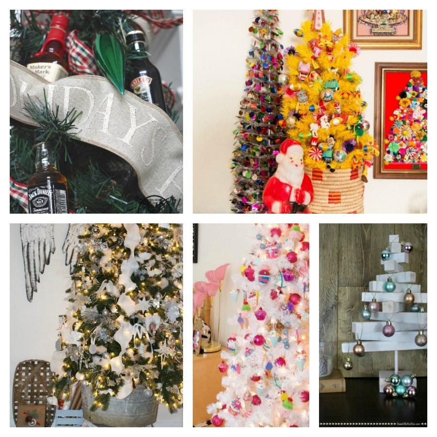 Christmas tree ideas collage