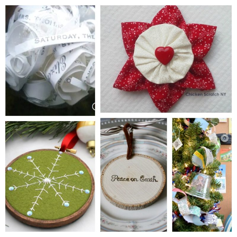 collage of Christmas ornament ideas