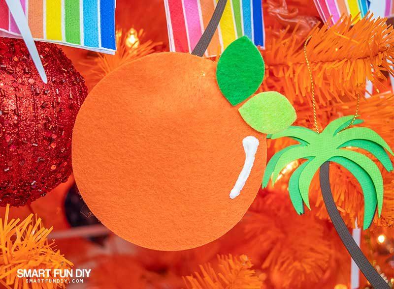 DIY felt orange