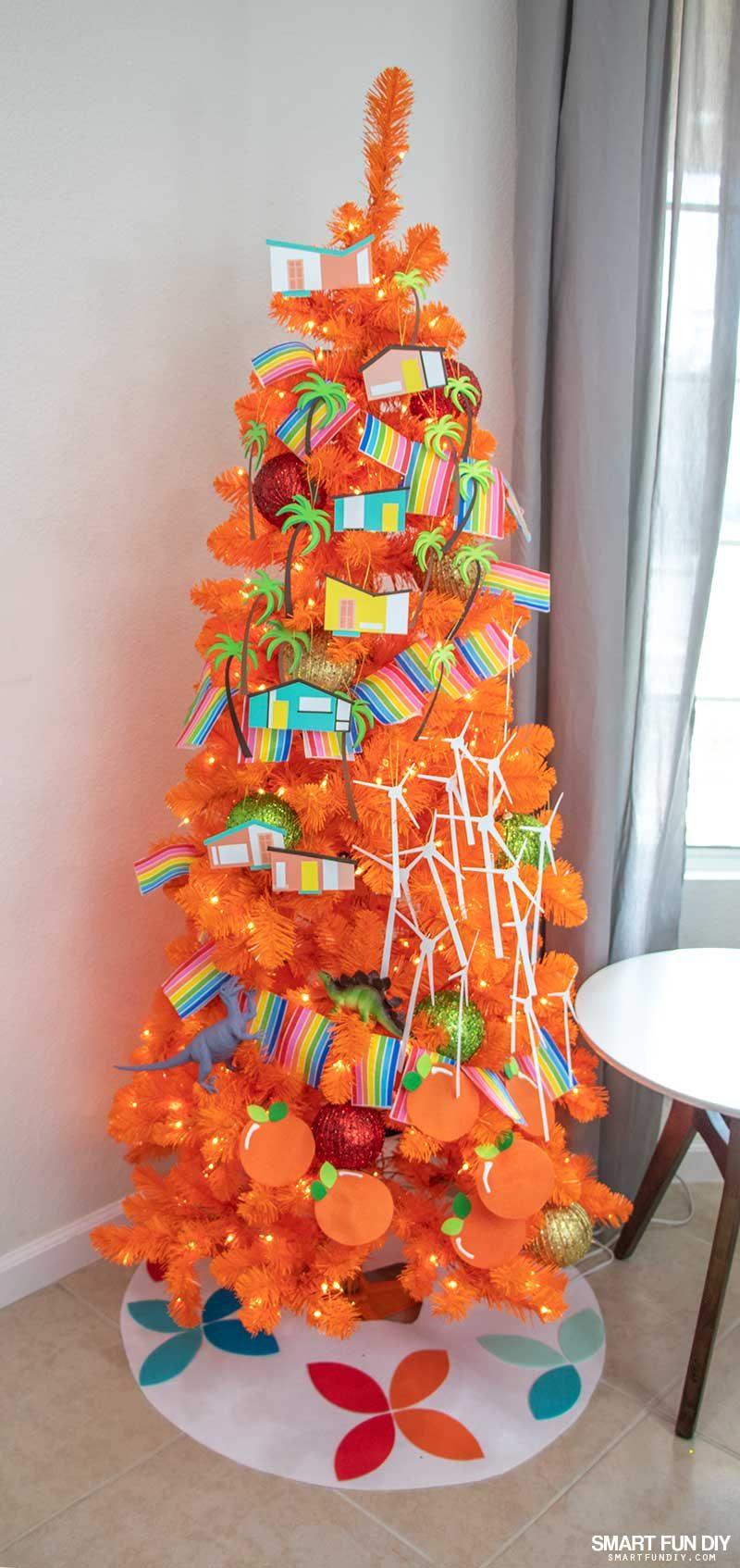 palm springs inspired christmas tree