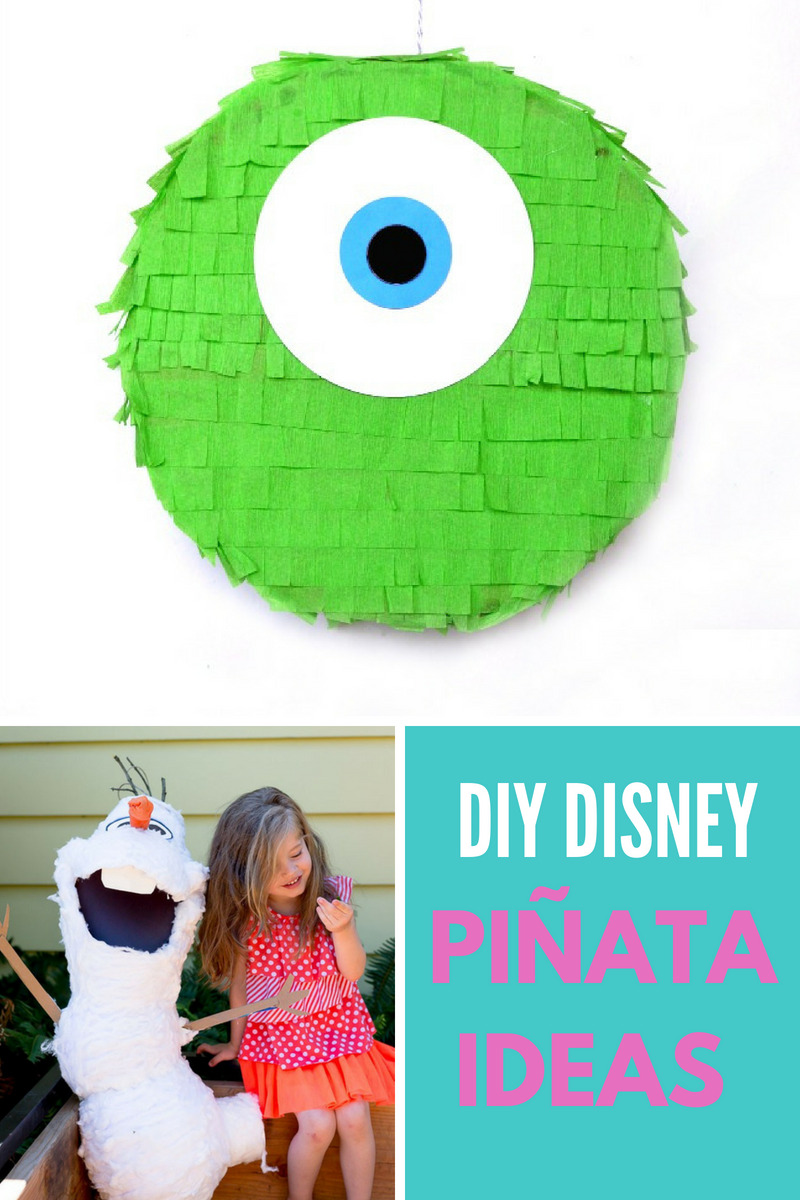 DIY Disney Pinata Ideas Collage