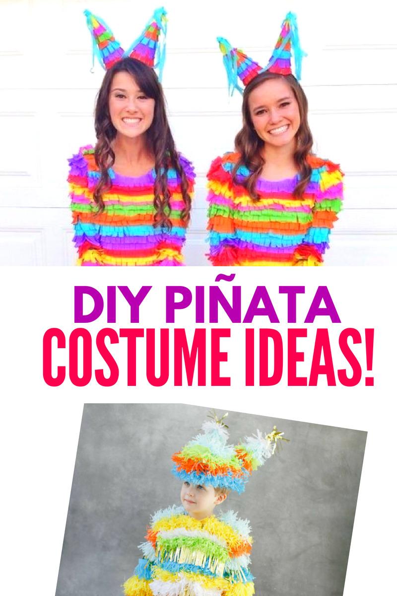 DIY Pinata Costume Ideas Collage