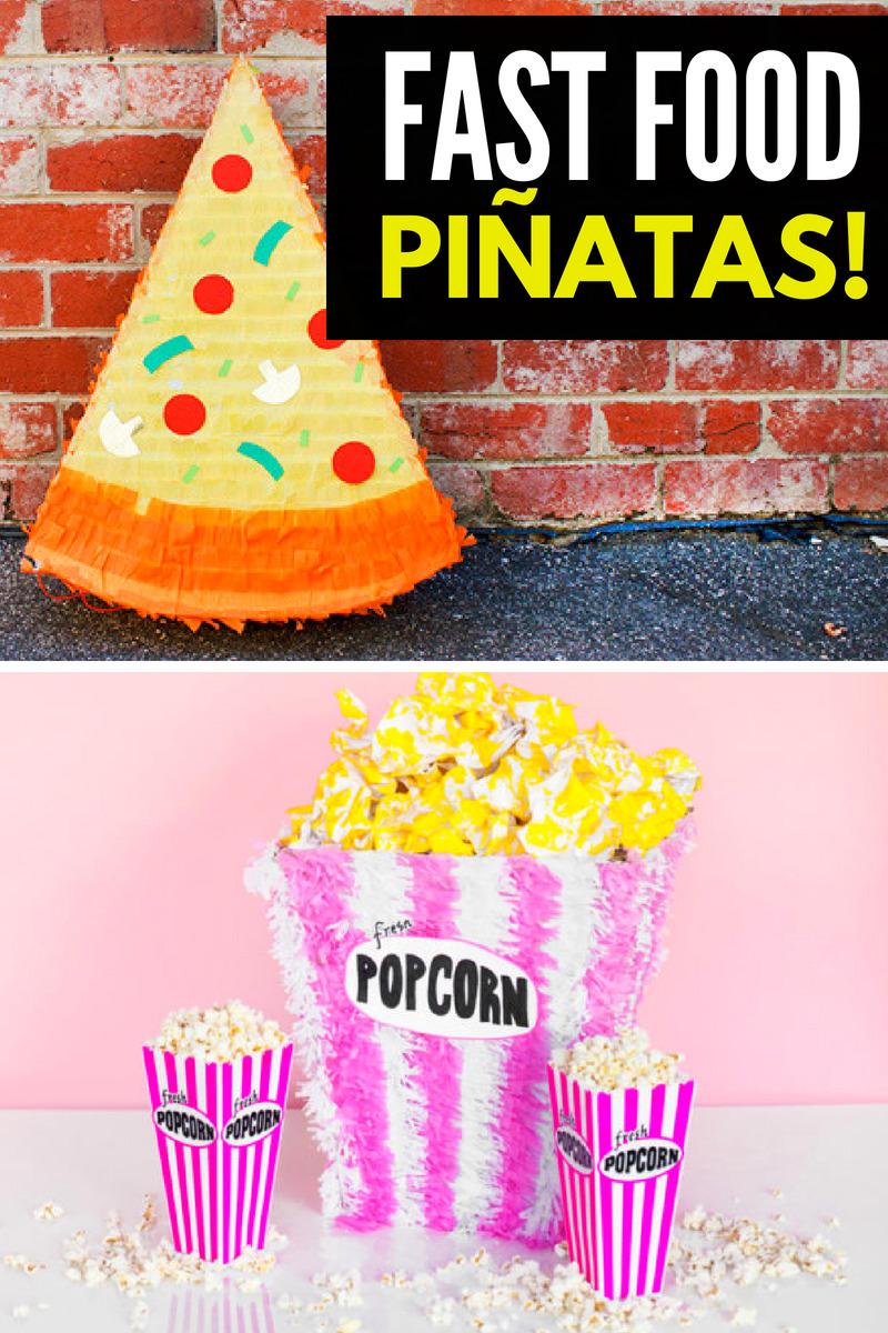 DIY Fast Food Pinatas Collage