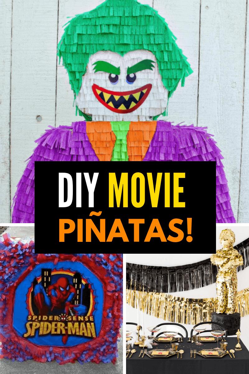 DIY Movie Pinatas Collage