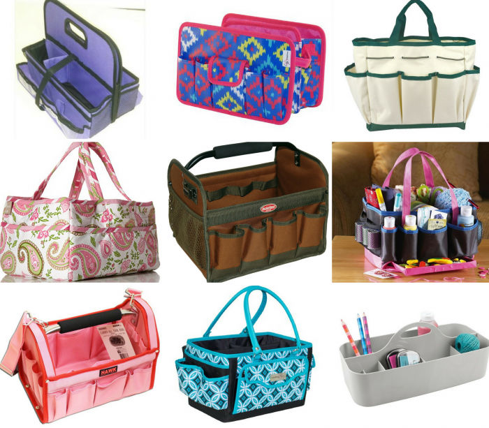collage of craft tote types