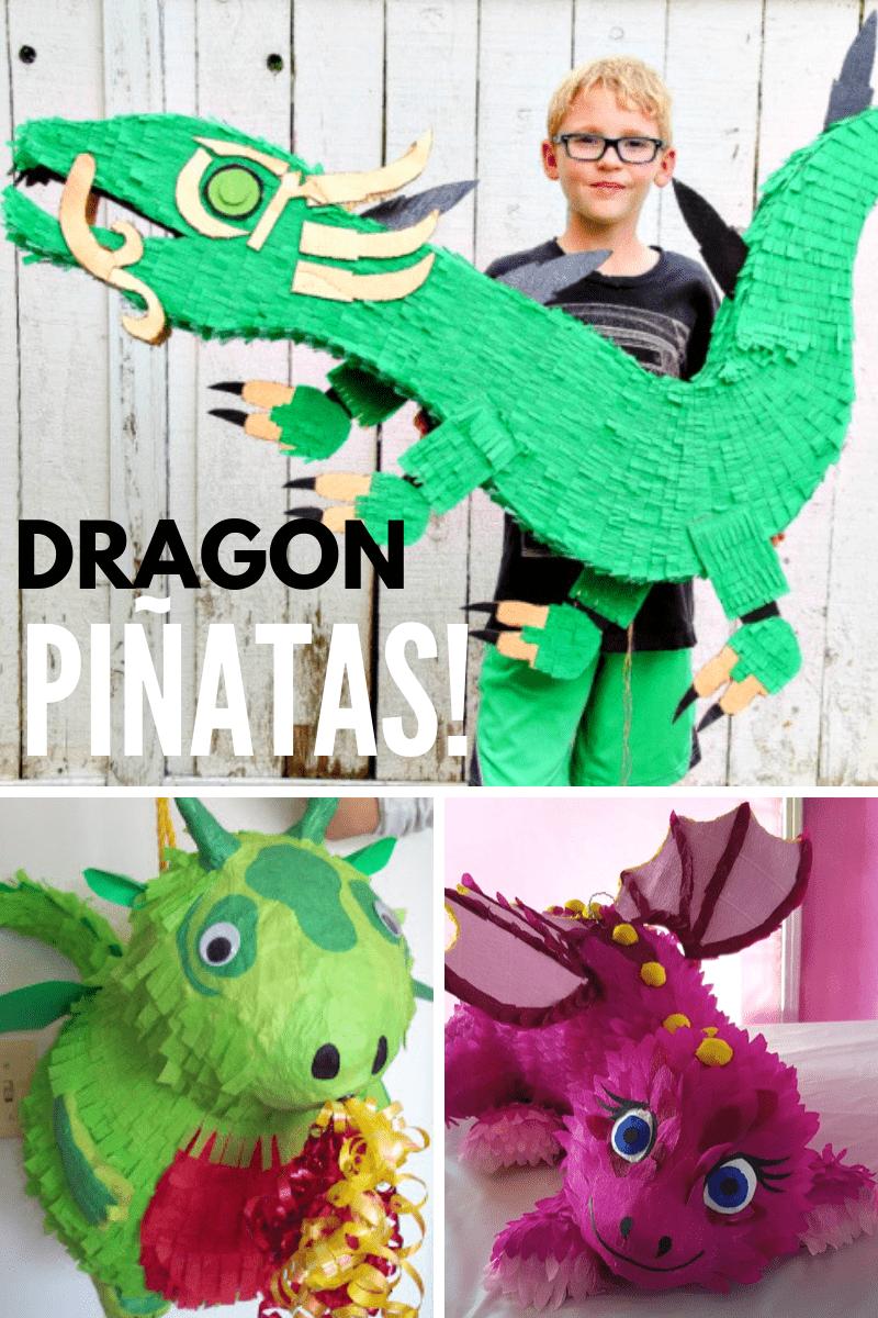 Dragon Pinata Collage