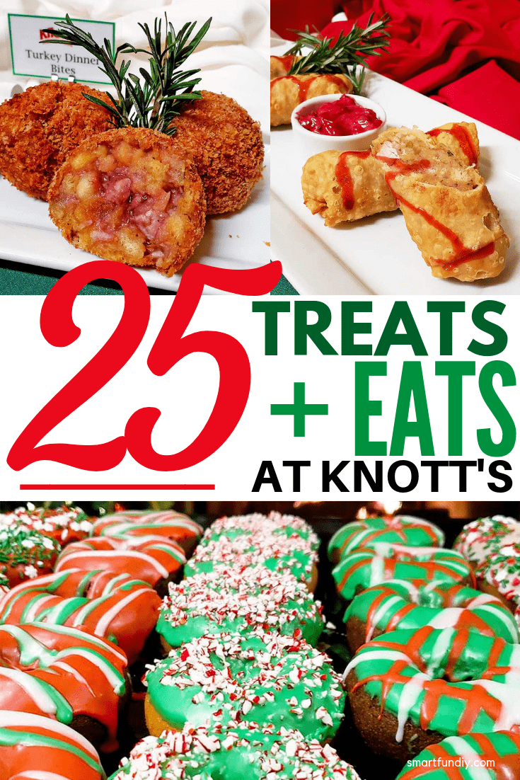 what to eat at Knott's Merry Farm long collage image for Pinterest