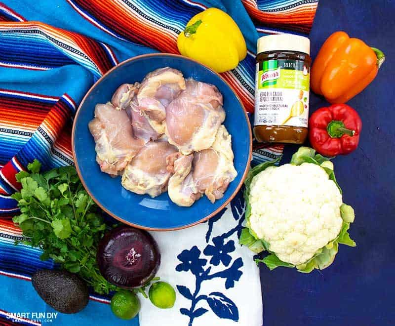 chicken fajita bowl ingredients