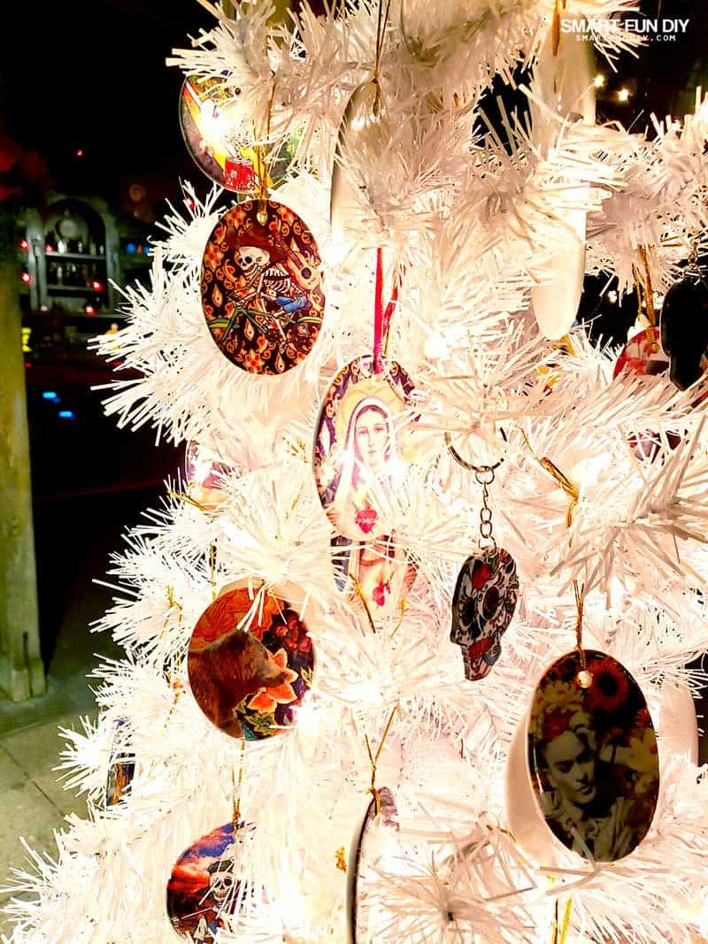 Frida Kahlo Latinx Christmas ornaments at Knott's Berry Farm
