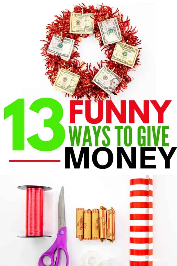 Tall graphic with money gift ideas