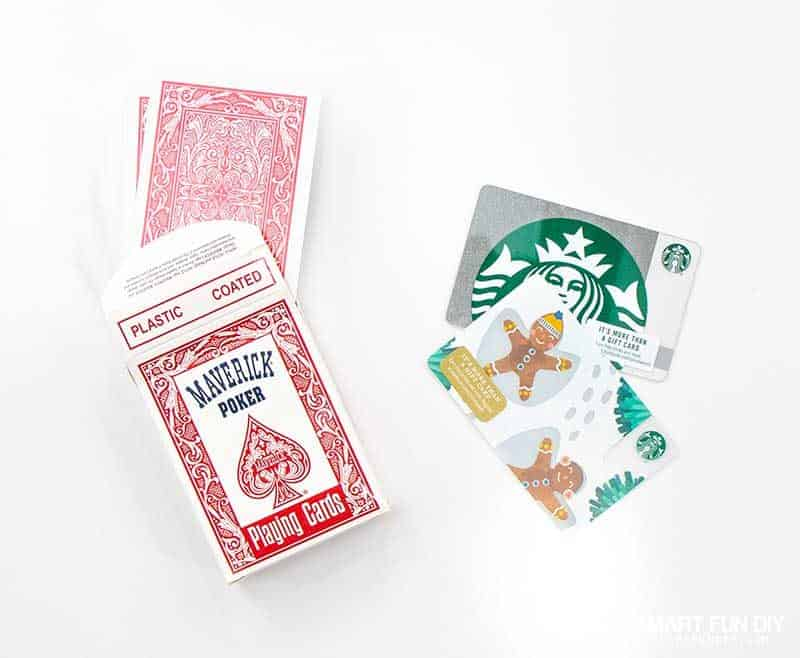 gift card playing card deck gag gift idea