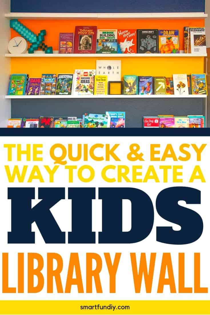 diy library wall graphic with text - the quick and easy way to create a kids library wall
